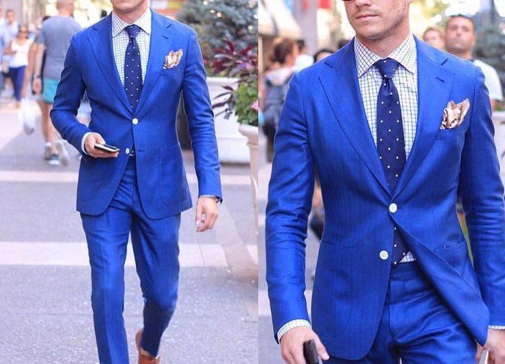 Plavo odelo kombinacije